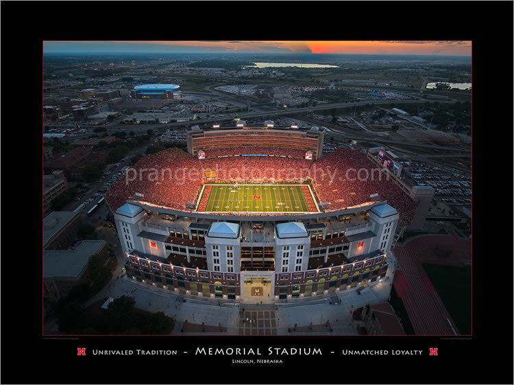 Memorial Stadium Unrivaled Tradition & Unmatched Loyalty Poster