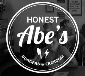 Four Honest Abe's Burgers + Freedom Stickers