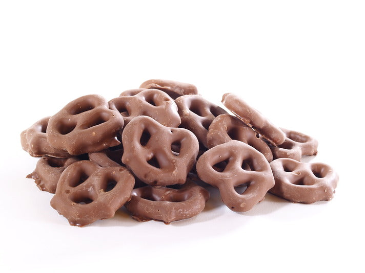 1/2 lb of Bakers Candies Milk Chocolate Covered Pretzels