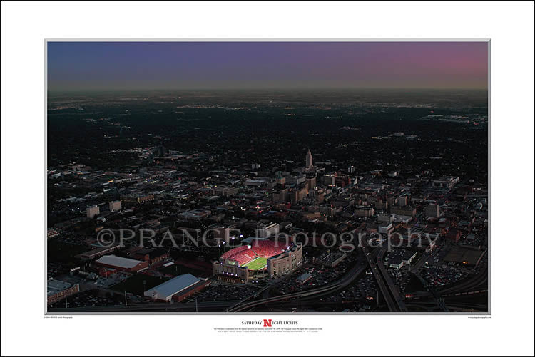 Aerial Shot of Memorial Stadium's Saturday Night Lights