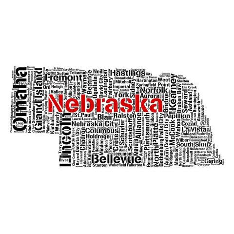 Nebraska Cities, Towns, Villages Art Print