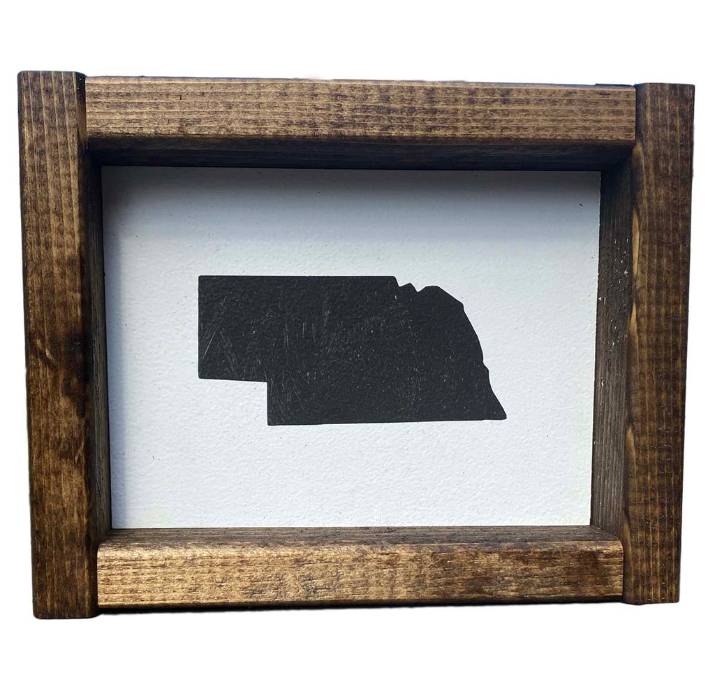 Framed Nebraska Picture Handmade in Omaha