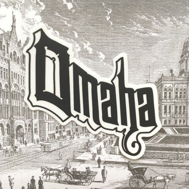 Iconic Omaha Logo Stickers (3 Pack)
