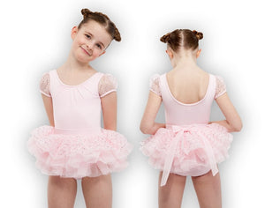 Bloch Girl's Sequins Disc Tulle Bow Back Tutu Skirt