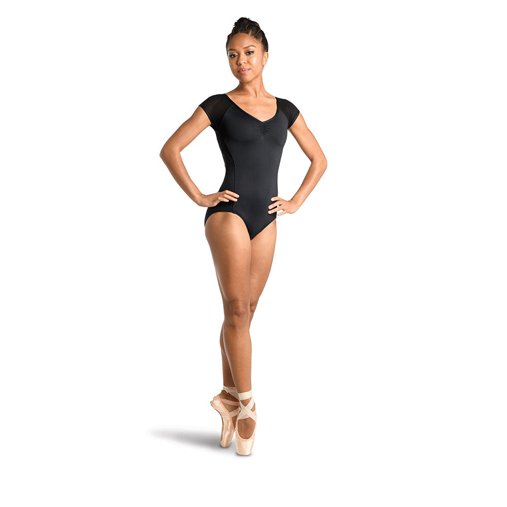 Danz N Motion Women's Black Cap Sleeve Leotard