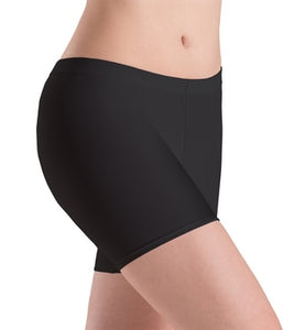 Motionwear Women's Black Low Rise Bike Shorts