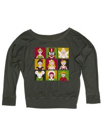 SugarandBruno Adult Nutcracker Cast Slouchy Raglan