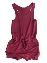 SugarandBruno Burgundy Short Rompers