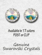 TYVM 20mm Center Swarovski Crystal Stone Post Earrings