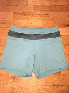 Women's Teal with Black Band Shorts