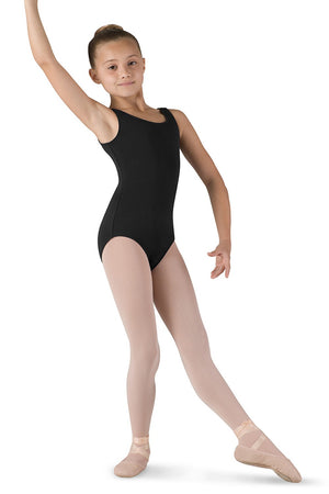 Girl's Bloch Round Neck & Back Tank Leotard
