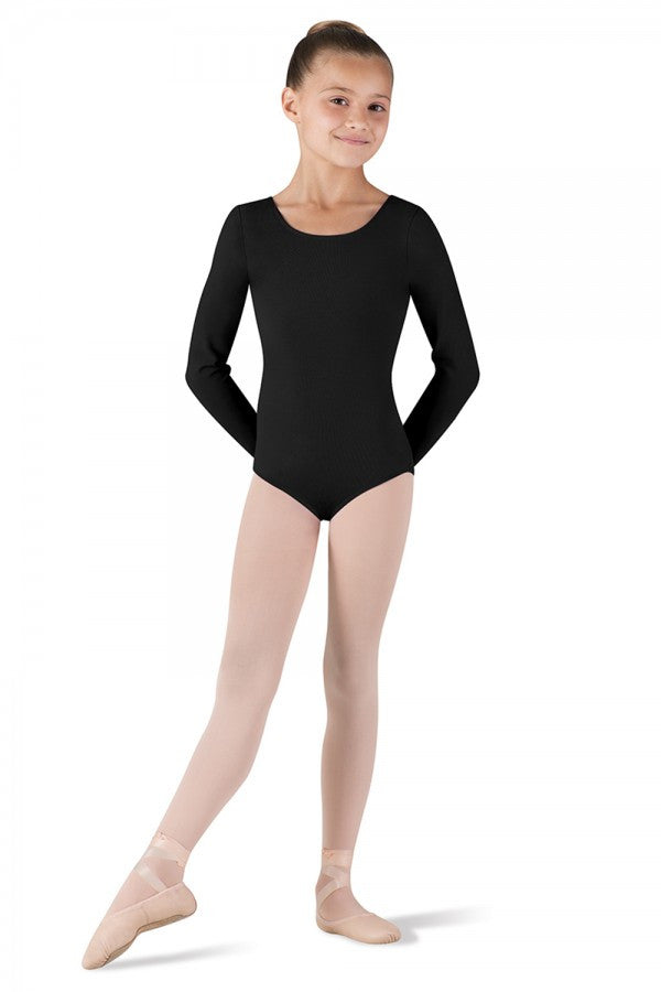 Long Sleeve, Round Neck Leotard - Children