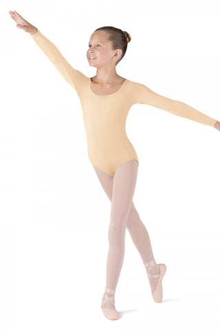 Bloch Children's Long Sleeve Nude Leotard