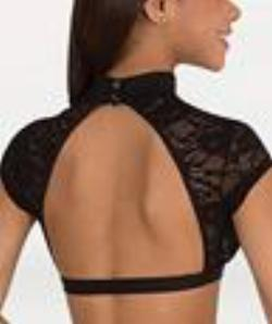 Body Wrappers Women's Sweetheart Mock-Neck Open Back BRS