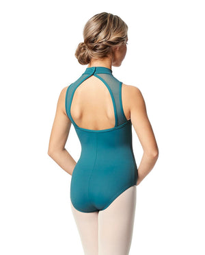 Lulli Women's Black Turtleneck Leotard