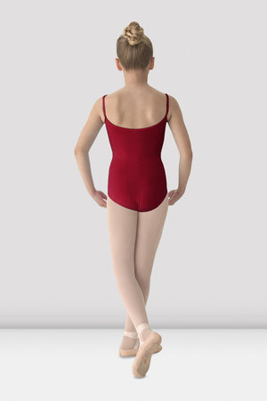 Mirella Girl's Red Camisole Leotard