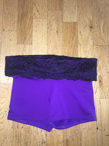 Women's Purple/Black Shorts