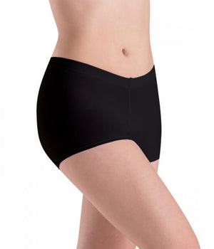 Motionwear Adult's Nude & Black Low Rise Shorts