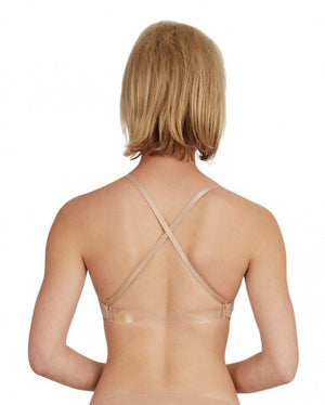 Capezio Nude Seamless Clear Back Bra
