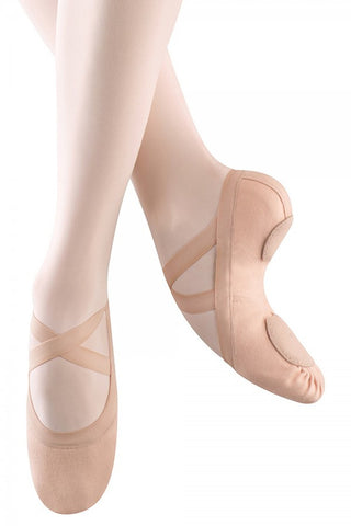 Bloch Synchrony Pink Girl's Split Sole Stretch Canvas Ballet Shoes