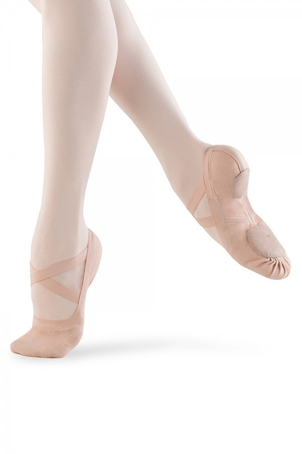 Bloch Women's Synchrony Split Sole Stretch Canvas Ballet Shoes-Clearance