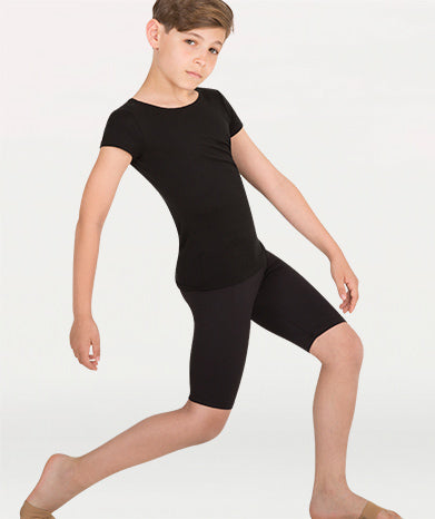 Body Wrappers Boy's Black Knee Length Pant