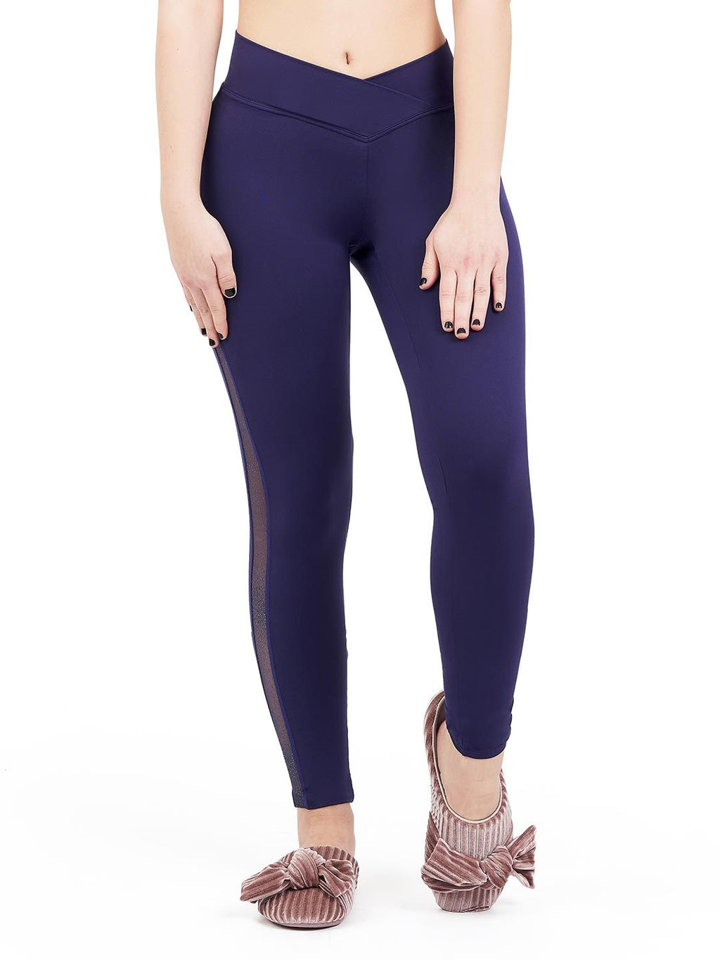 Capezio Girl's Cosmos Cross Front Leggings