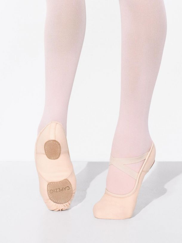 Capezio Women's Hanami Pink Leather Ballet Shoe w/flex arch