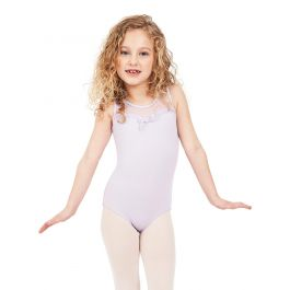 Capezio Girl's Lavender Sweet Kisses Mesh Yoke Tank Leotard