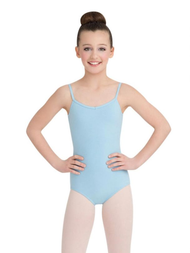 Capezio Girl's Light Blue V-Neck Cami Leotard