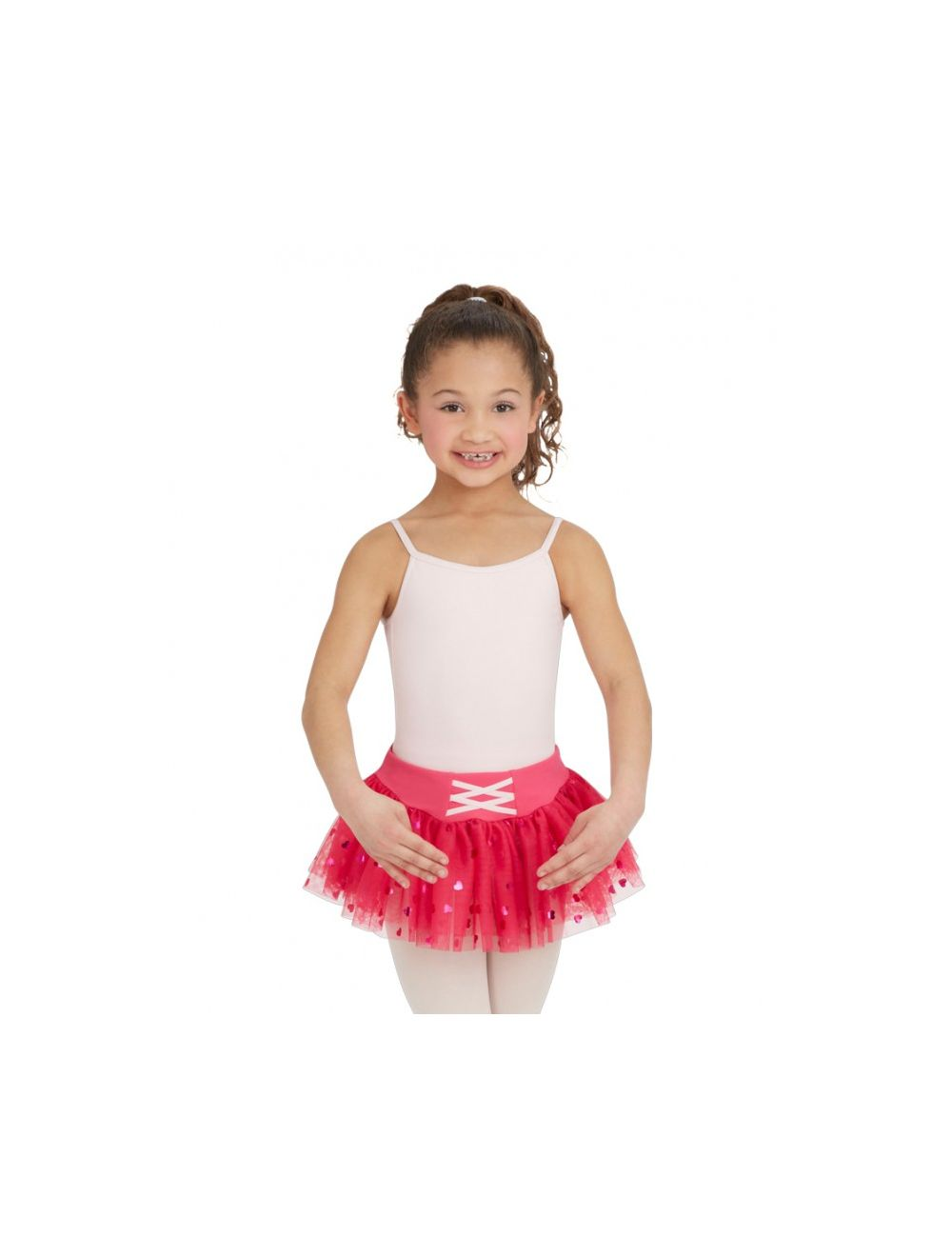 Capezio Girl's Hot Pink Heart Tutu Skirt