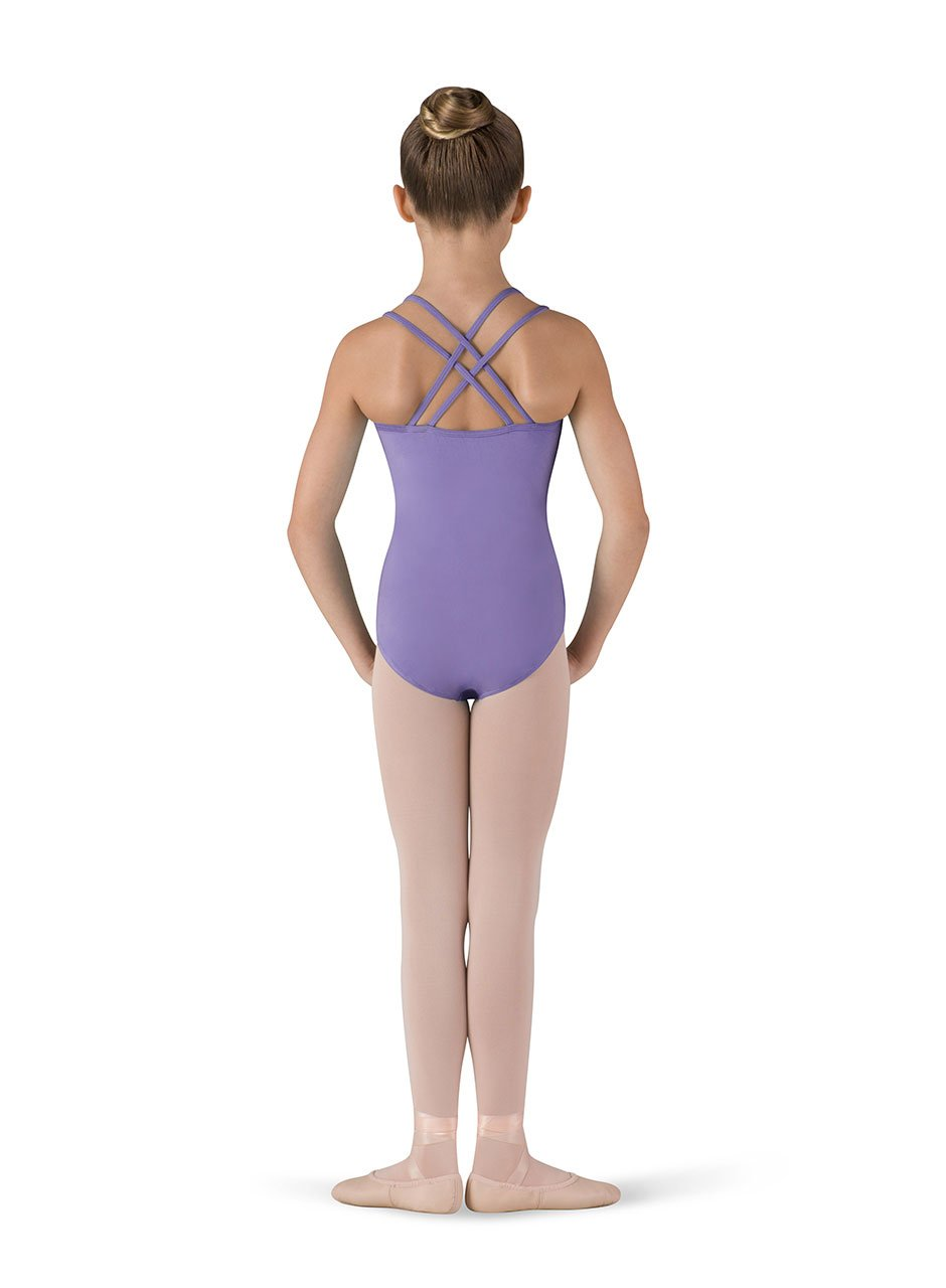 Bloch Girl's Black Double Cross Back Leotard