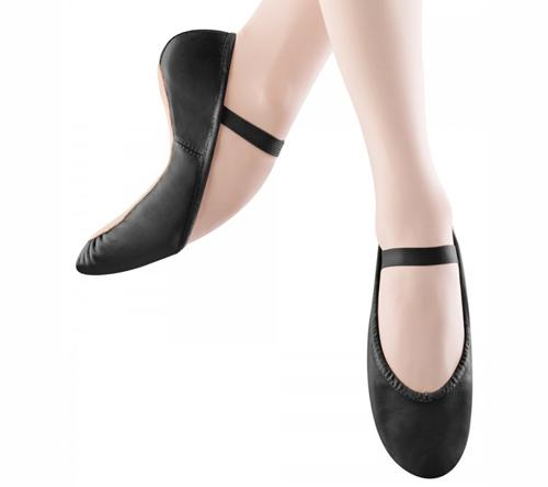 Bloch Children's Black Leather Full Sole Dansoft Ballet Shoes