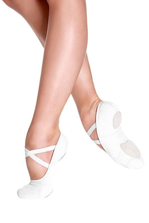 So Danca Adult Black or White Super Stretch Bliss Canvas Ballet Shoes (XL)