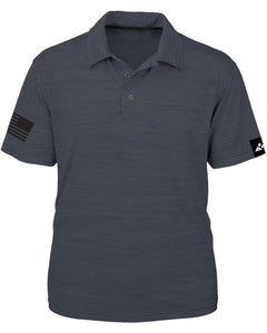 Look professional while prodly representing the American Flag. Nothing says patriotic like our polo shirt.