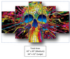Colorful 5 Piece Skull Head Canvas Wall Art
