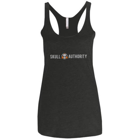 Skull Authority Ladies' Triblend Racerback Tank