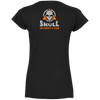 Skull Ladies' Double Shield Fitted Softstyle 4.5 oz V-Neck T-Shirt