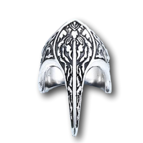 Long Vintage Stainless Steel Armor Ring