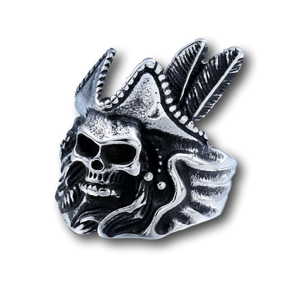 Pirate Captain's Silver Skull Ring