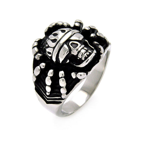 Spider Skull Stainless Steel Ring