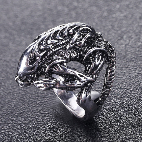 Awesome Alien Biker Ring For Men and Women