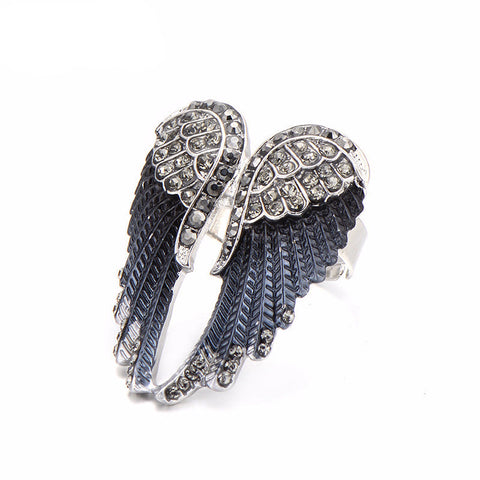 Angel Wings Biker Ring