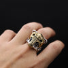 .925 Sterling Silver Skull Flip-Up Mask Ring