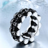 Stainless Steel Skull Band for Men