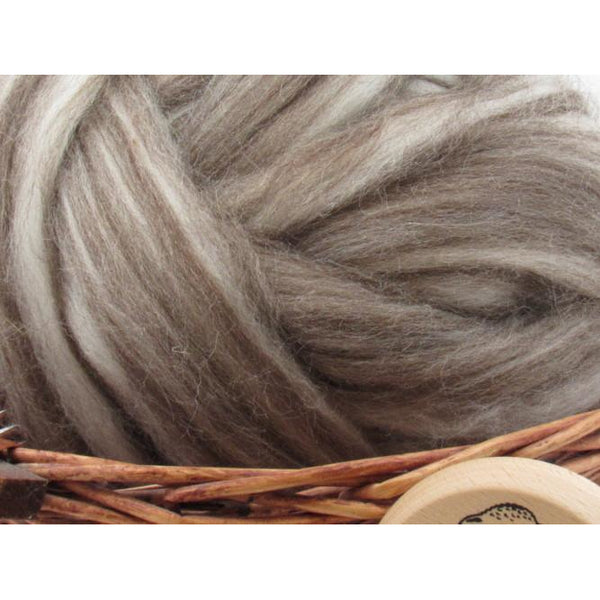 Mixed Corriedale Wool Top Roving - Undyed Natural Spinning Fiber / 1oz