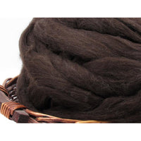 Dark Brown New Zealand Corriedale Wool Top - 1oz