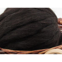 Black Icelandic Wool Top - 1oz