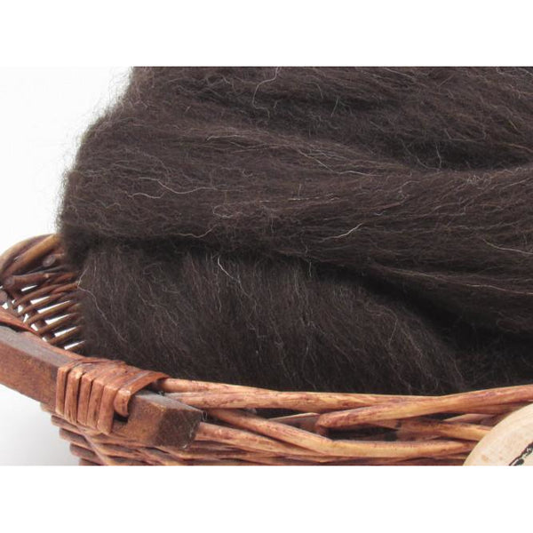 Black Welsh Wool Top - 1oz