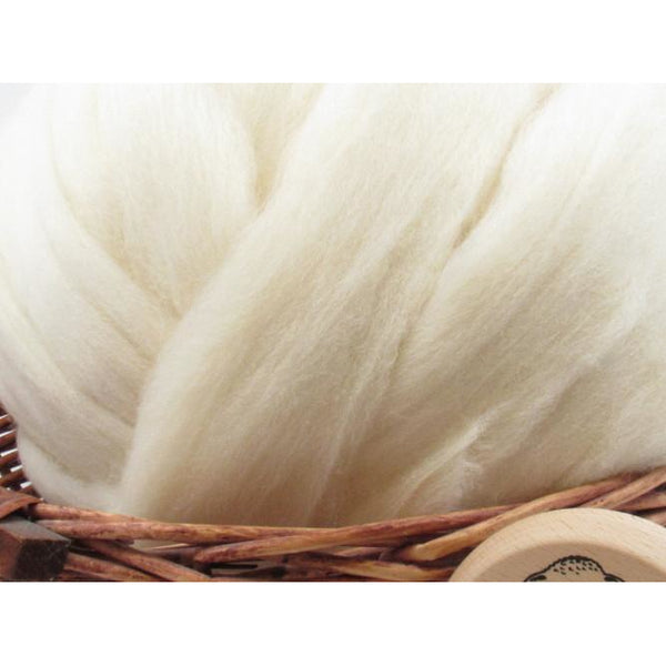White Southdown Wool Top - 1oz